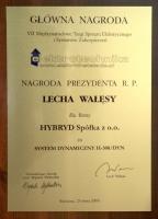 1st award Elektrotechnika 2009